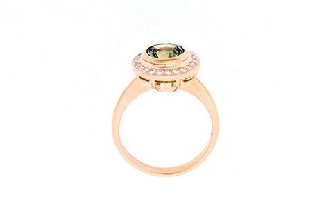 Ring In 18ct Yellow Gold With Parti Sapphire 1.78cts & Diamonds0.23cts
