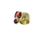18ct Yellow Gold Cabochon Tourmaline Ring