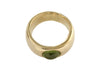 9ct ring in yellow gold with cabochon Peridot