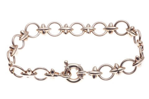 9ct Bracelet In Rose Gold With Hugs & Kisses
