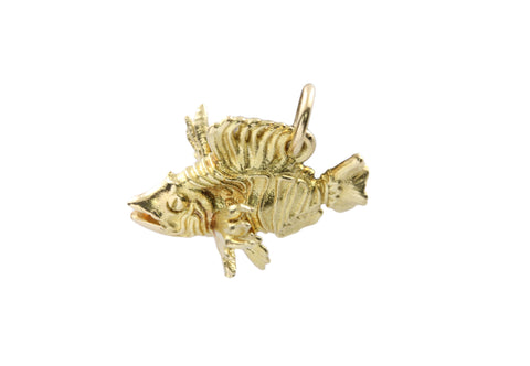 18ct Pendant In Yellow Lion Fish