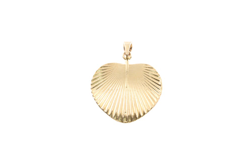 9ct Pendant In Yellow Gold With Fan Palm Leaf