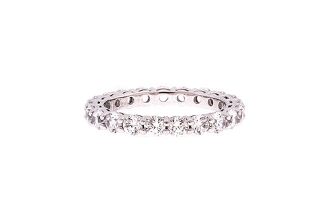 18ct White Gold Full Circle Diamond Eternity Ring