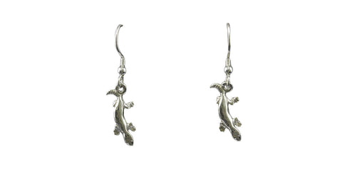 Silver Earring With Papua New Guinea Geckos