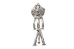 Silver Pendant With Ancient Idol Mask Man