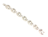 Silver Bracelet With Round Rectangular Links