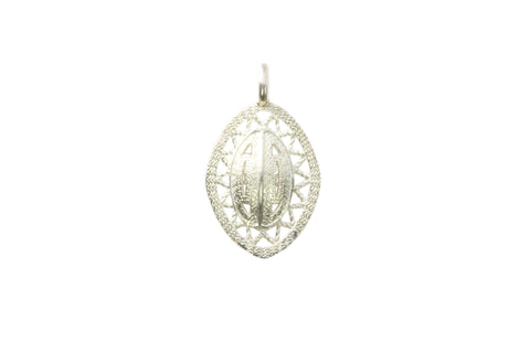 Silver Pendant With Goroka Basket Design