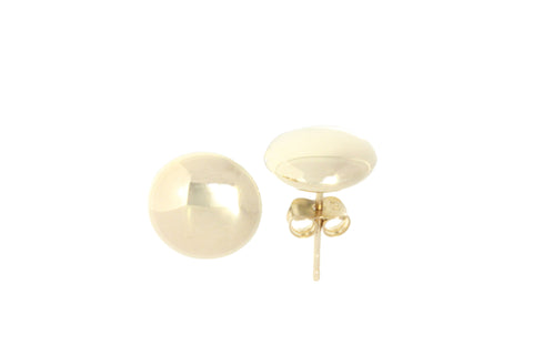 9ct Earrings In Yellow Gold With Polished 9mm Round Stud