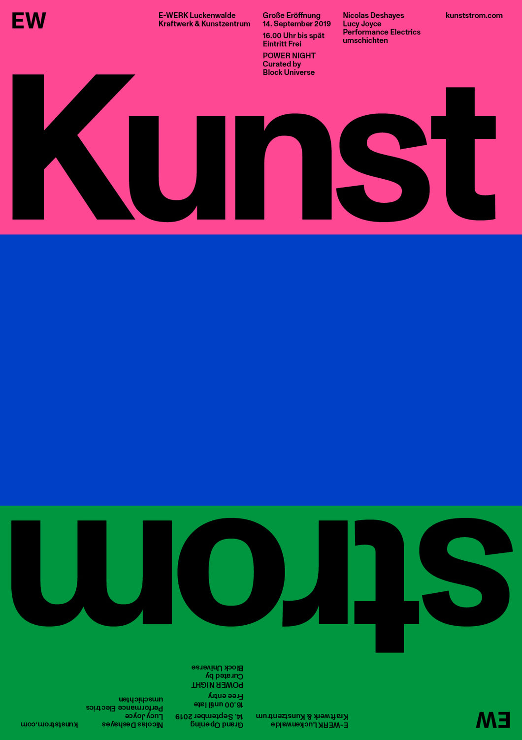 Kunststrom Poster 1-Sided (B1) Pink, Blue, Green