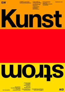 Kunststrom Poster 1-Sided (B1) Orange, Red, Yellow