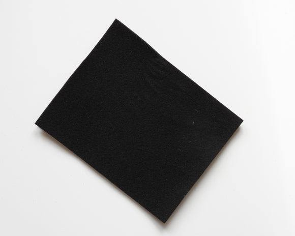 Black - 3mm Wool Blend Felt - 8