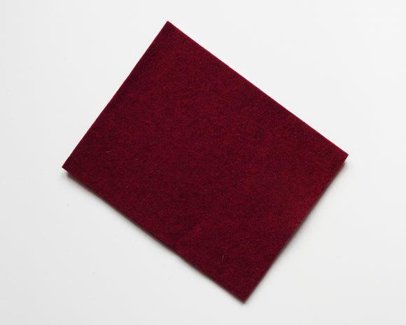 Bordeaux - 3mm Wool Blend Felt - 8