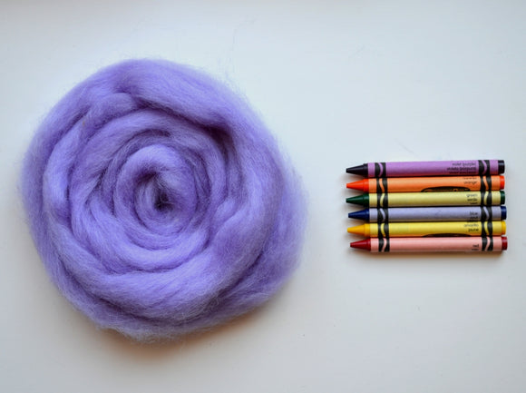 Lavender Bouquet Romney Wool Roving - 1 ounce