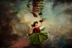 Fine Art Image of a Hawaiian Hula Dancer Underwater