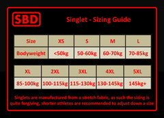 SBD Competition Singlet