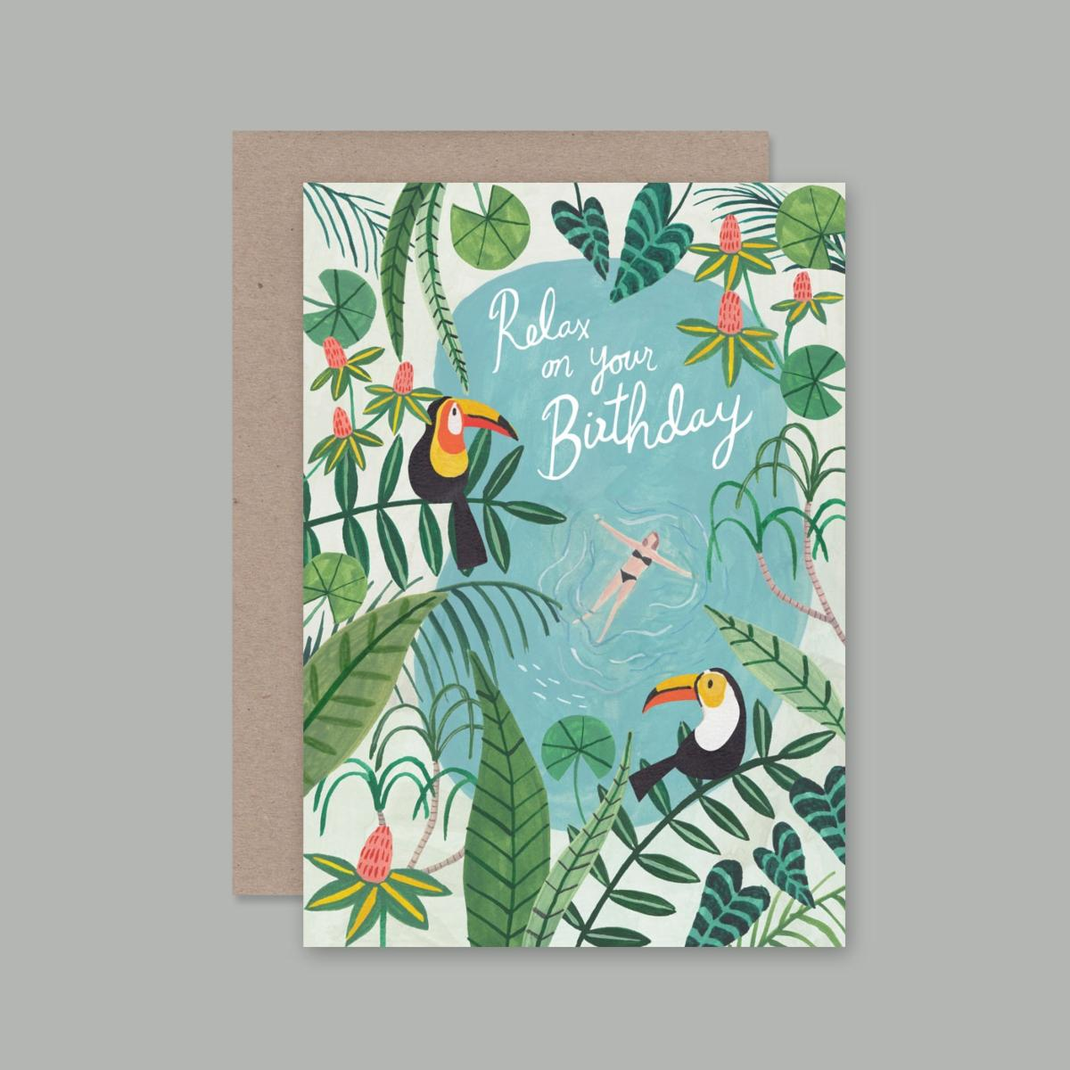 Relax On Your Birthday Card | AHD Paper Co.