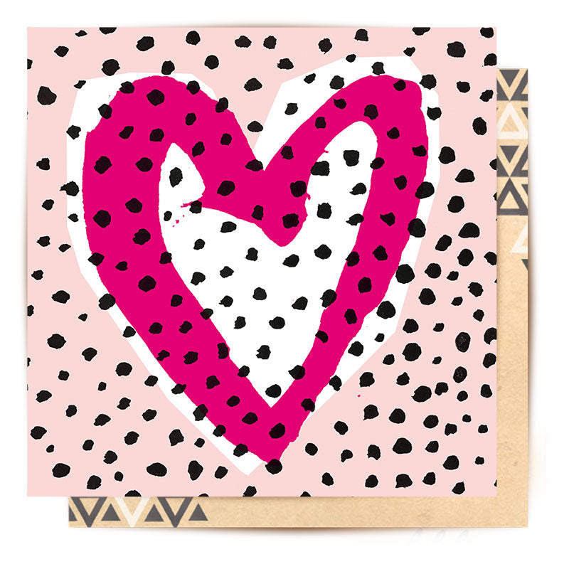 Pink Heart Mini Card | La La Land