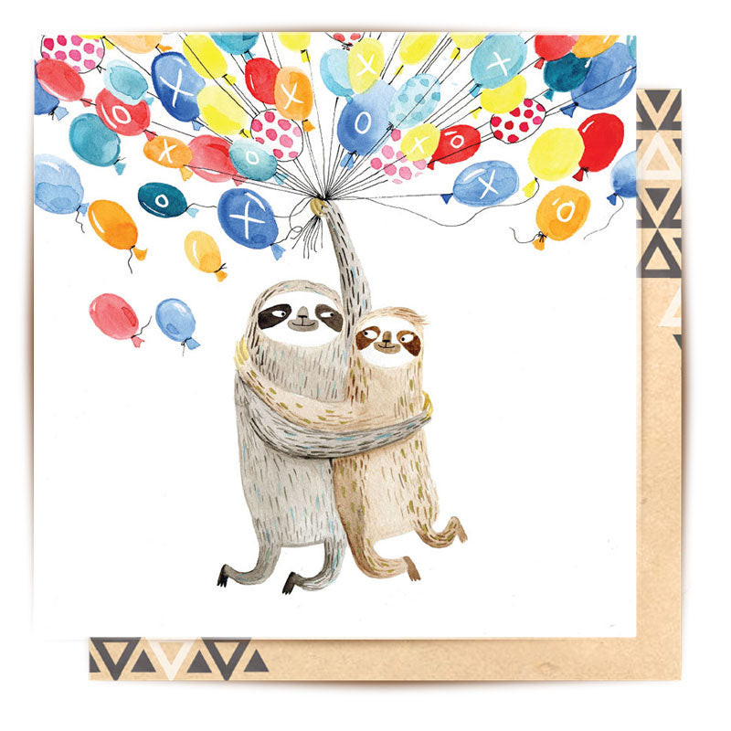 Sloth Balloons Card | La La Land