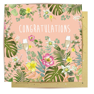 Floral Congratulations Card | La La Land