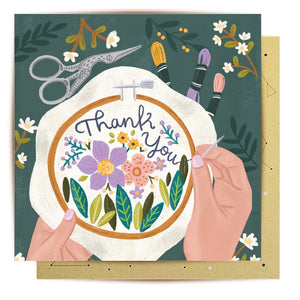 Embroided Thank You Card | La La Land
