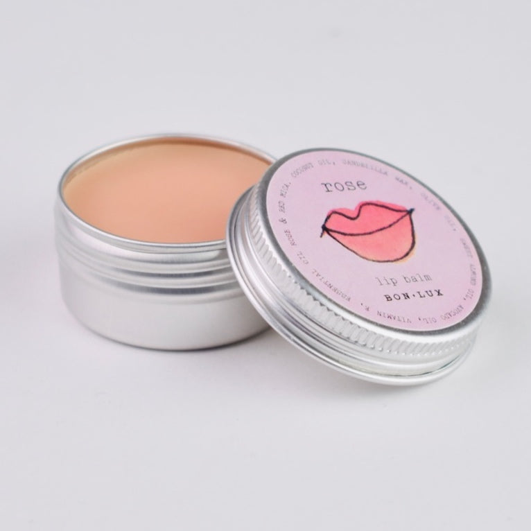 Rose Lip Balm Lemon | Bon Lux