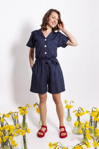 Pinstripe Playsuit| Kindling|