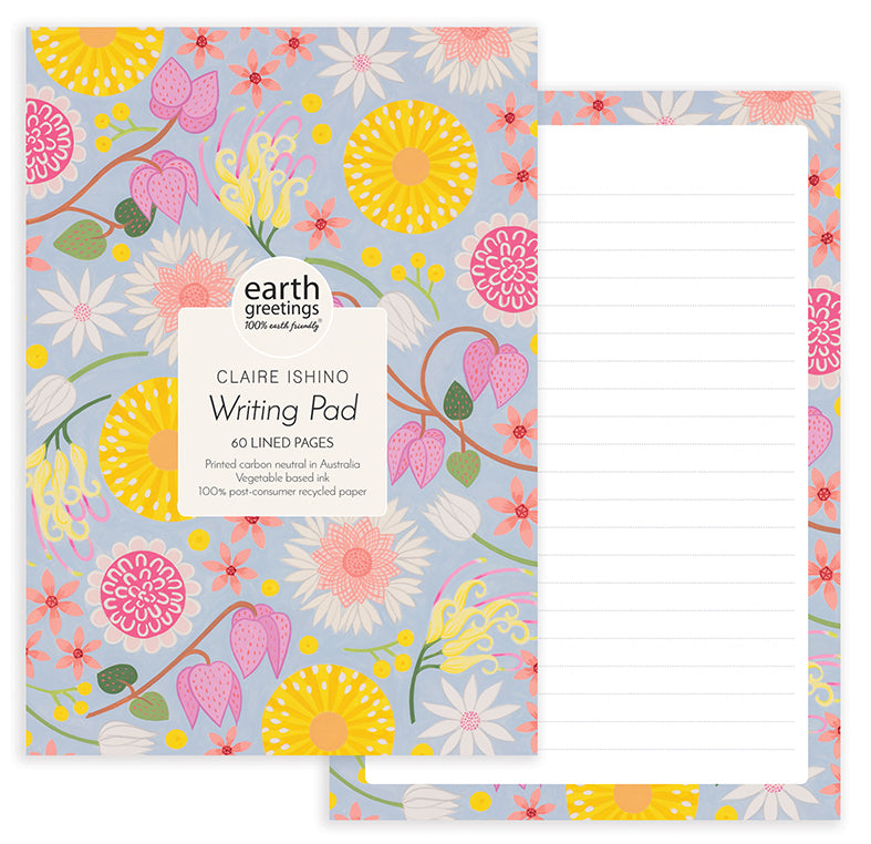 A5 Writing Pad | Earth Greetings | Wildflower Moorland
