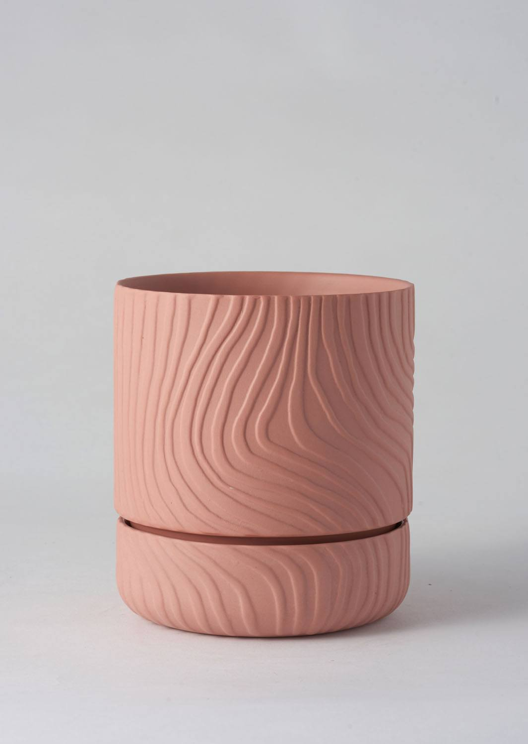 Abstract Relief Plant Pot | Thin Ochre | Angus and Celeste