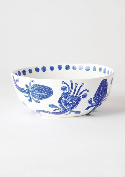 Bohemian Blue Salad Bowl | Angus and Celeste