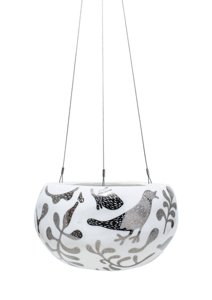 Decorative Pebble Hanging |Silver Serpent | Angus & Celeste