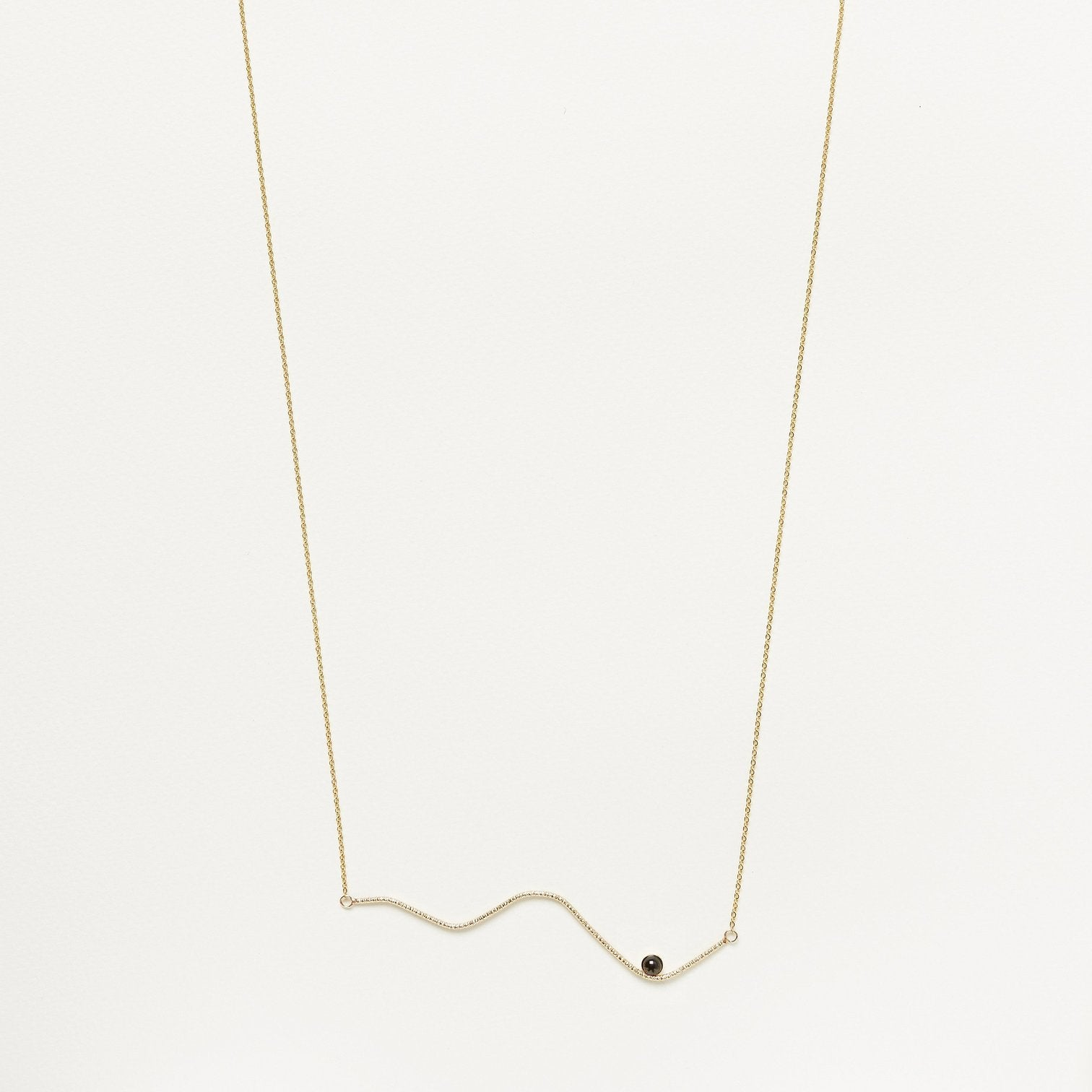 Lovehate Horizontal Abstraction Necklace | Gold