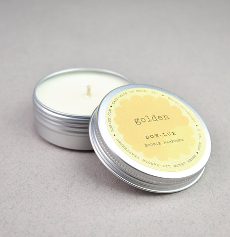 Golden Travel Tin Candle | Bon Lux