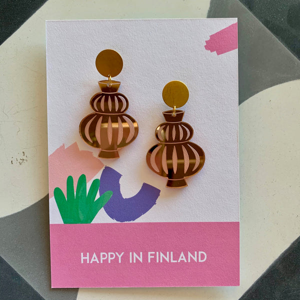 Happy In Finland Vessels Earrings | Rose Mirror
