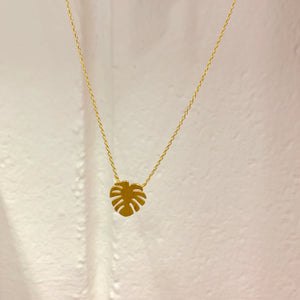 Gold Monstera Necklace | Tiger Tree