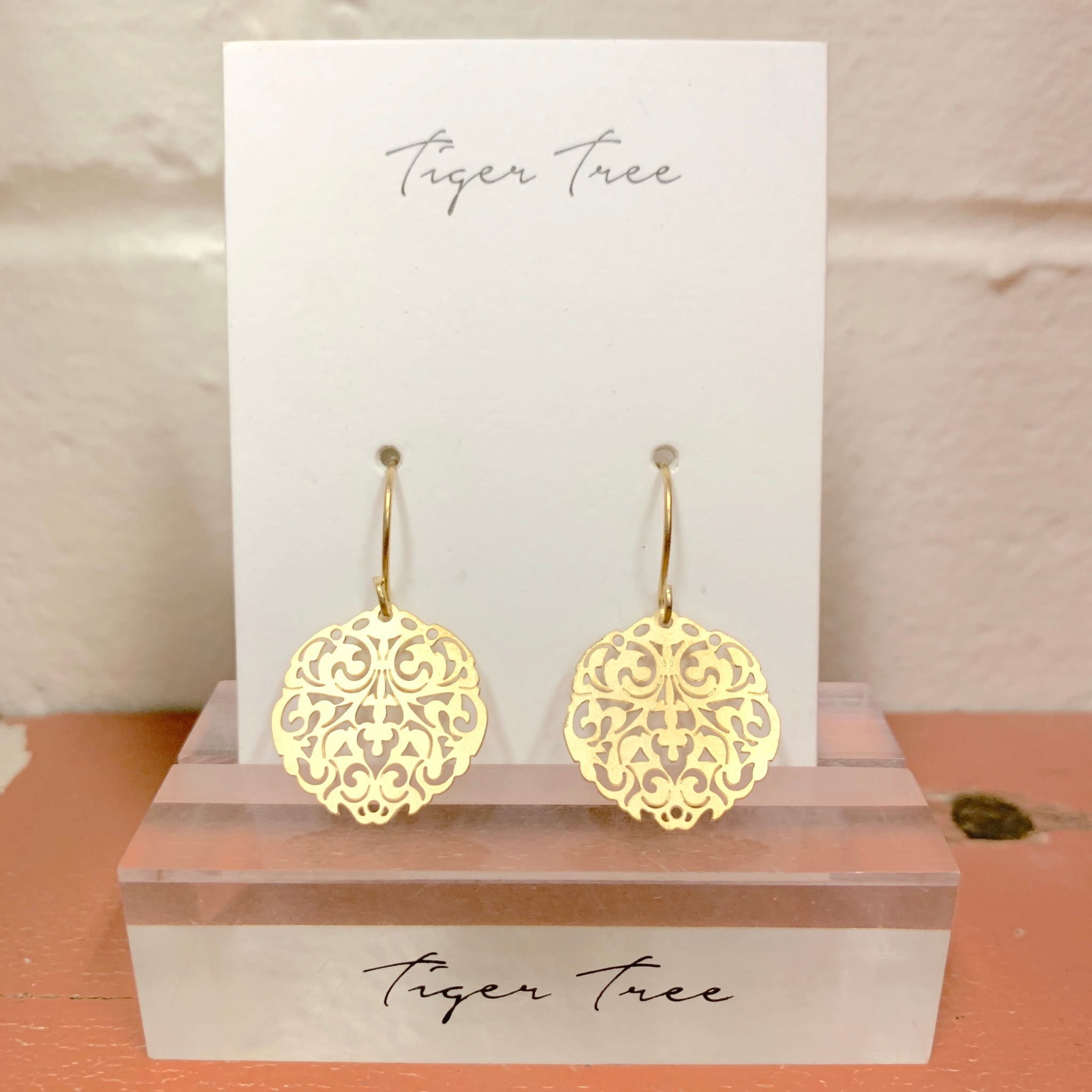 Gold Mini Filigree Earring | Tiger Tree