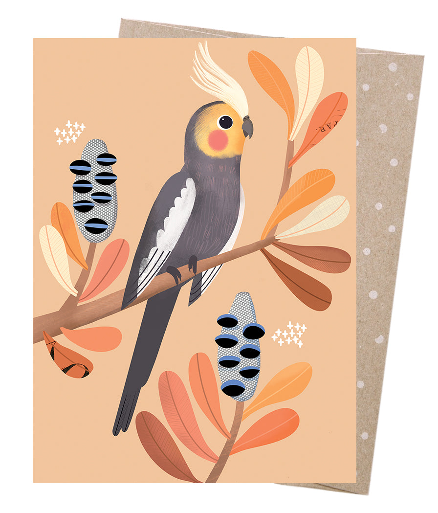 Greeting Card | Earth Greetings | Charming Cockatiel