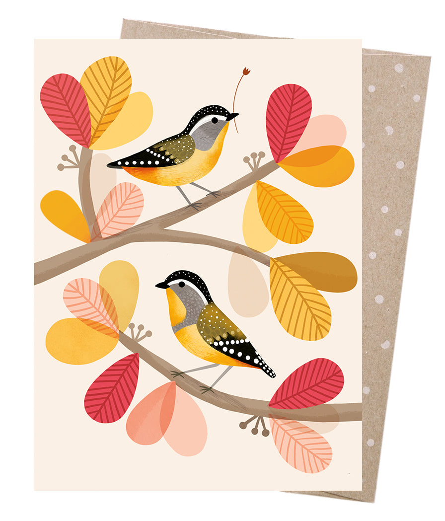 Greeting Card | Earth Greetings | Peeking Pardalotes