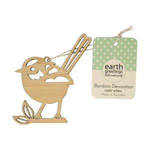 Bamboo Decoration | Earth Greetings | Fairy Wren