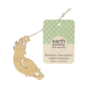 Mini Bamboo Decoration | Earth Greetings | Cheeky Cockatoo
