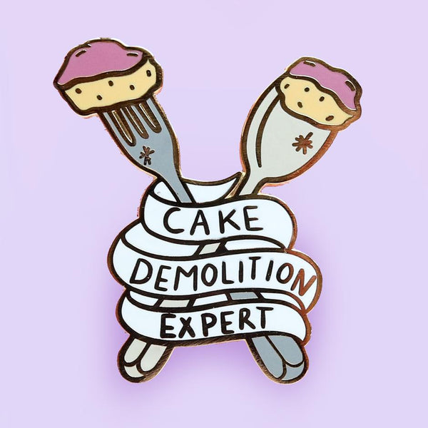 Cake Demolition Expert Lapel Pin | Jubly-Umph