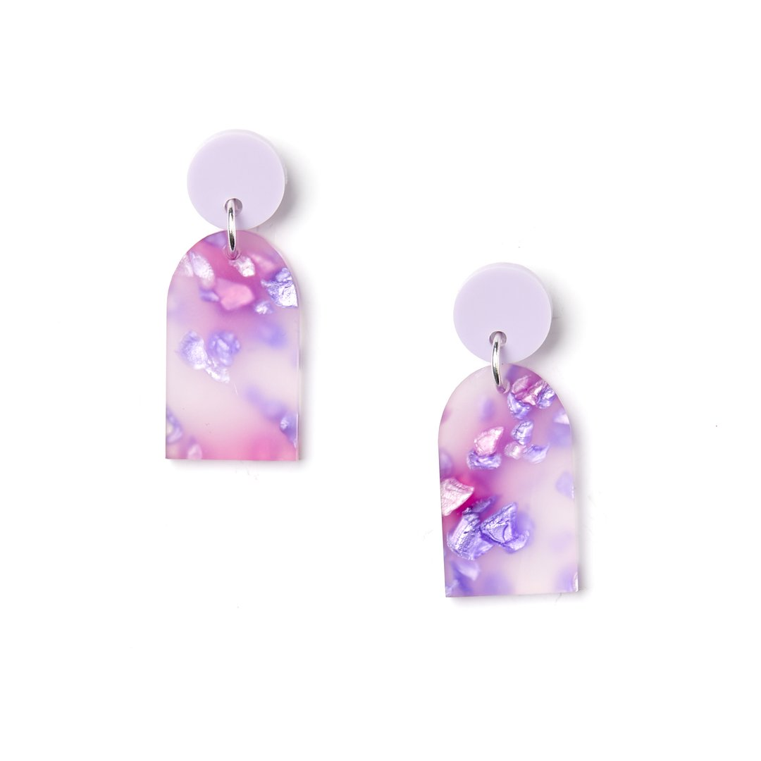 Arc Earrings | Martha Jean | Lilac