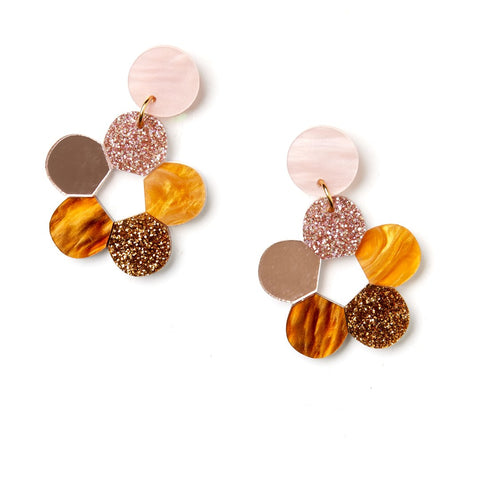 Lulu Earrings | Martha Jean | Pink/Brown