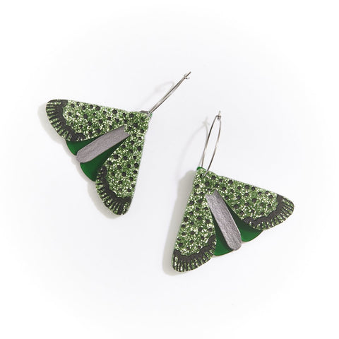 Moth Earrings | Martha Jean | Green