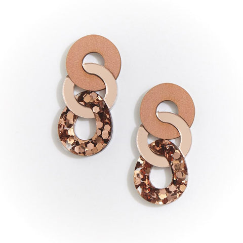 Braid Earring | Martha Jean | Rose Gold