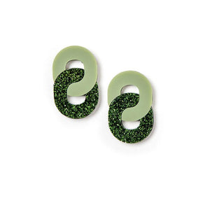 Mini Chain Earring | Martha Jean | Olive
