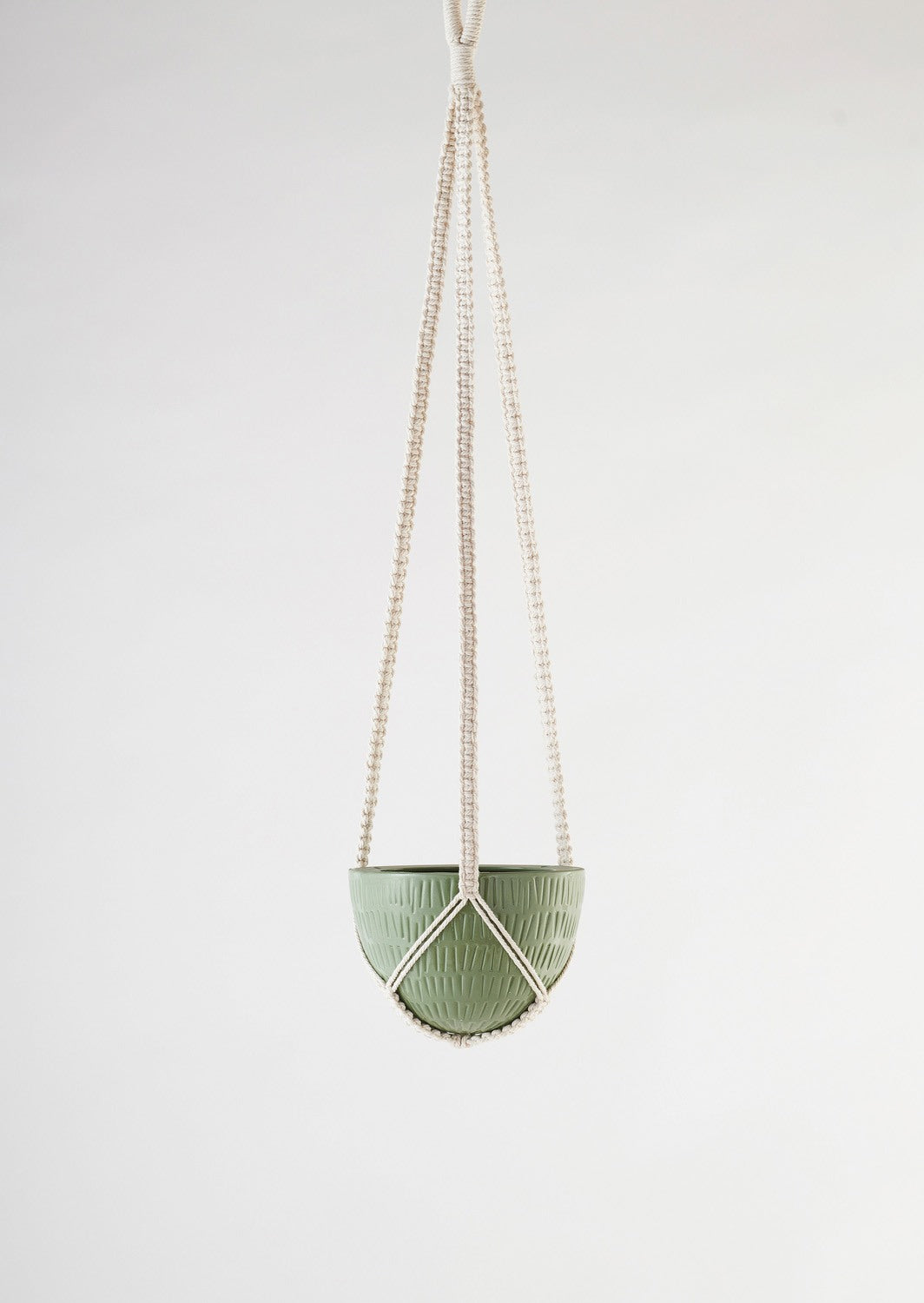Macrame Olive Green Hanging |Small | Angus & Celeste