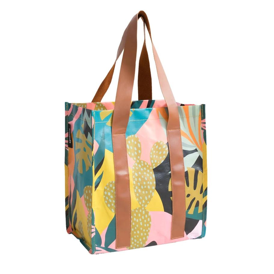 KOLLAB | Market Bag | Monstera