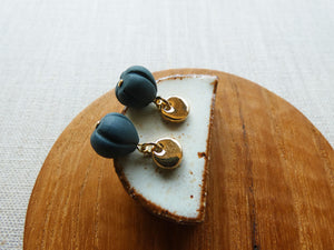 Moon & Shell Stud Earrings | Black | And O Designs