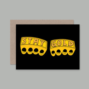 Stay Gold Card | AHD Paper Co.