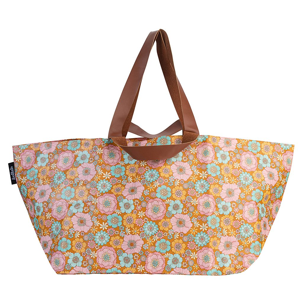KOLLAB | Beach Bag | Retro Aqua Floral